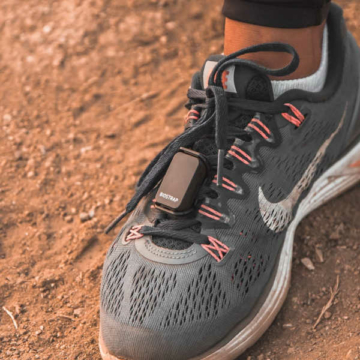 Biostrap-activity-pod attached to athletic shoe