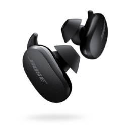 Bose quiet comfort earbuds triple black hero