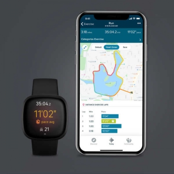Fitbit versa3 black features gps