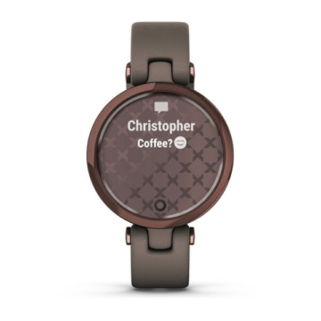 Garmin lily dark bronze messages