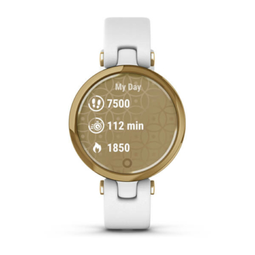 Garmin lily light gold personal health statistic