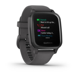 Garmin venu sq shadow gray side