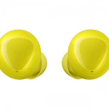 Samsung galaxy buds front yellow