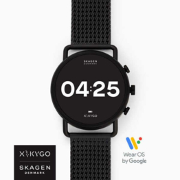 Skagen falster 3 x black stainless steel hero