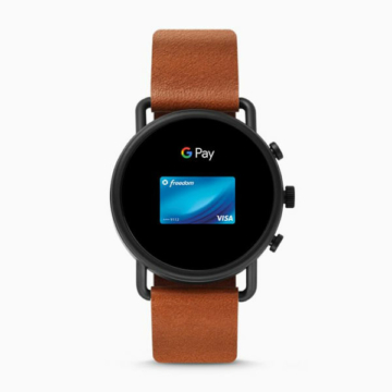 Skagen falster two tone leather google pay