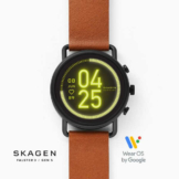 Skagen falster two tone leather hero