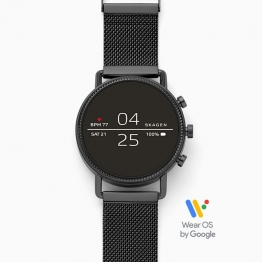 Skagen Smartwatch - Falster 2 Black Magnetic Steel-Mesh